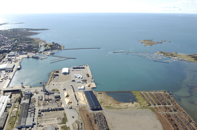 Areal photo of Varberg industrial harbour